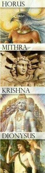 Son Gods: Horus, Mithra, Krishna, Dionysus